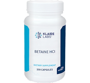 Betaine HCl, 100 capsules