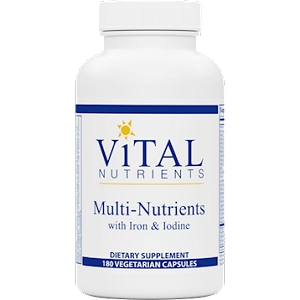 Multi-Nutrients w/Iron & Iodine, 180 capsules