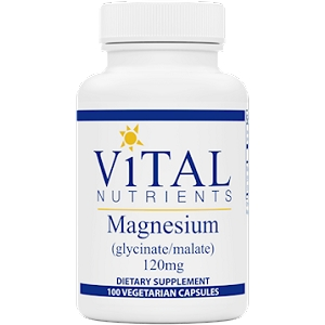 Magnesium (Glycinate/Malate) 120mg, 100 capsules