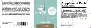 Dr. Doni's Zinc Support, 60 capsules