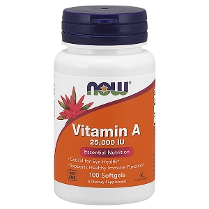 Vitamin A 25,000IU, 100 soft gels