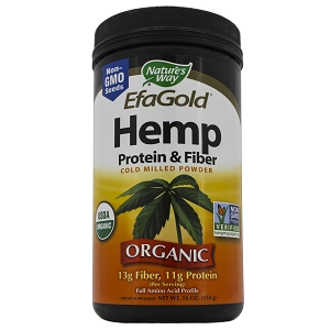 EfaGold Hemp Protein and Fiber Powder, 16 oz