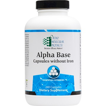 Alpha Base Capsules Without Iron, 240 capsules