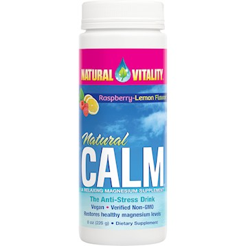 Natural Calm Raspberry-Lemon, 8 oz