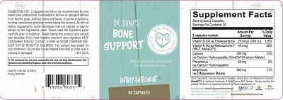 Dr. Doni's Bone Support, 60 capsules